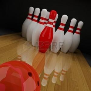 11321565-bowling-avec-une-quille-rouge-au-centre