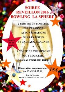 31 décembre 2015 Bowling La Sphère Poitiers Sud
